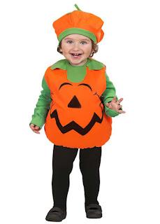 Baby Græskar Halloweenkostume