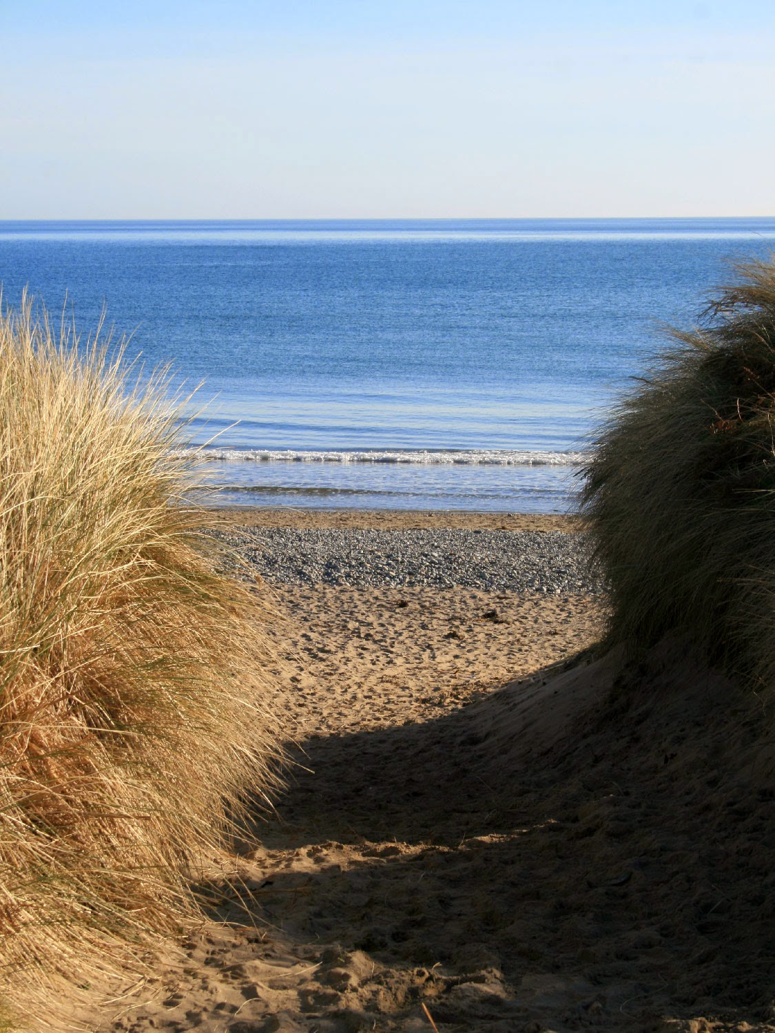 The sea between the dunes