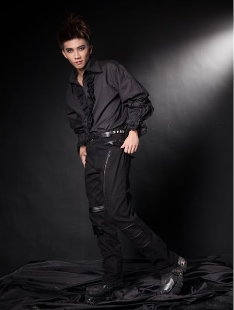 Black Vintage Punk Pants for Men