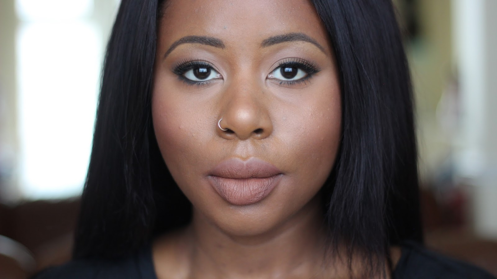 makeup monsters cosmetics nude lips liquid lipstick just add marshmallow nc50 natalie kayo discoveriesofself deep skin dark skin woc black beauty blogger