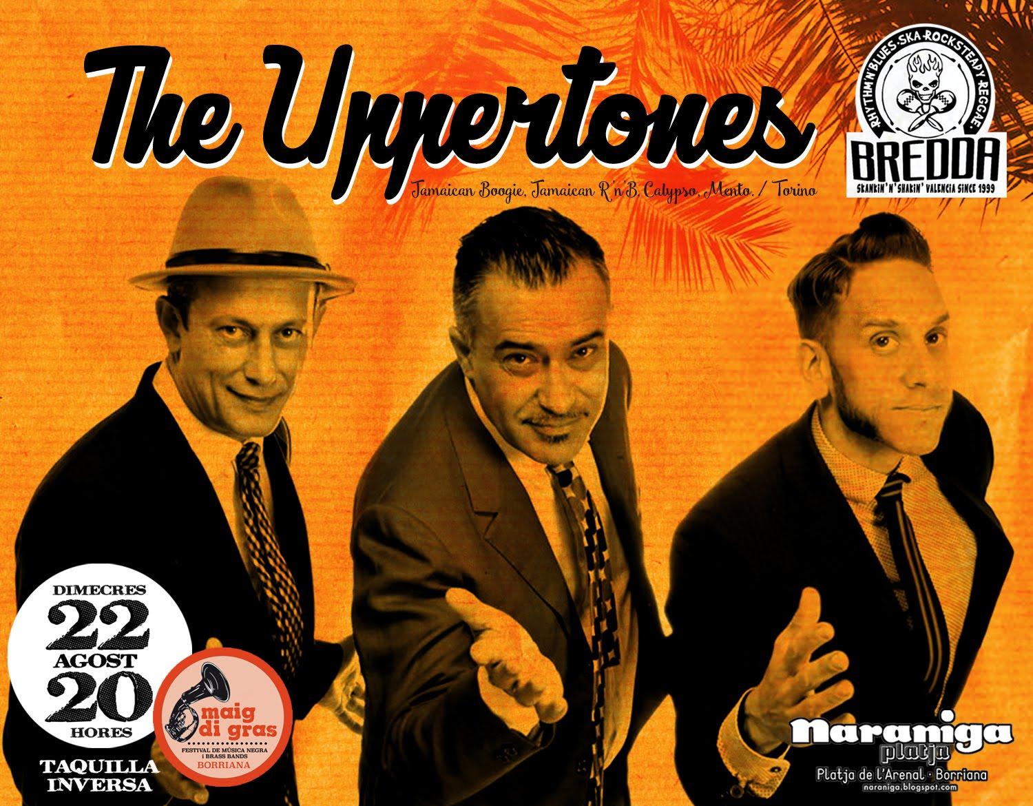 THE UPPERTONE / DIMARTS 22 AGOST · 20 H