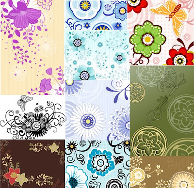 2various kinds of flower patterns
