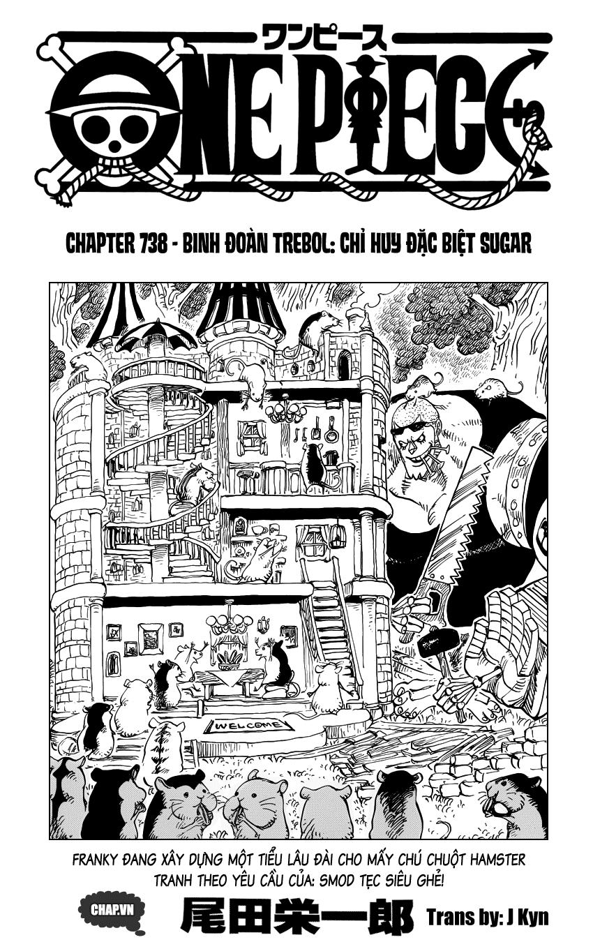 One Piece Chapter 738: Binh đoàn Trebol: Chỉ huy đặc biệt Sugar 001