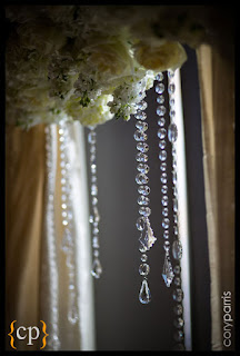 crystal strands, Four Seasons Hotel Seattle wedding, Flora Nova Design