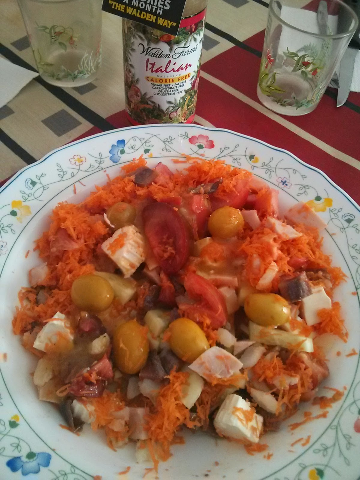 Ensalada con salsa italiana