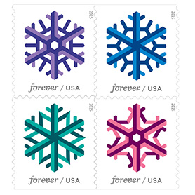 Order these holiday stamps online.