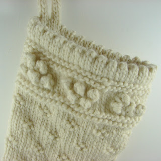 detail hand knit stocking wool roving cream white