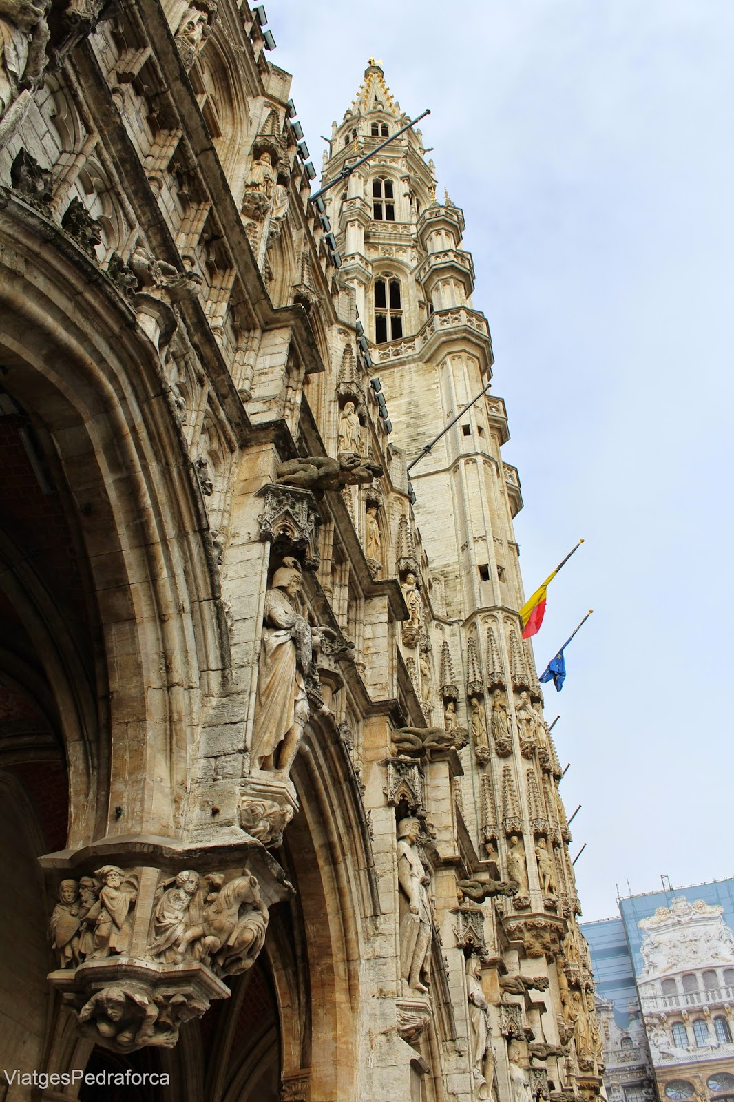 Ajuntament gotic de Brussel.les Grand Place Belgica