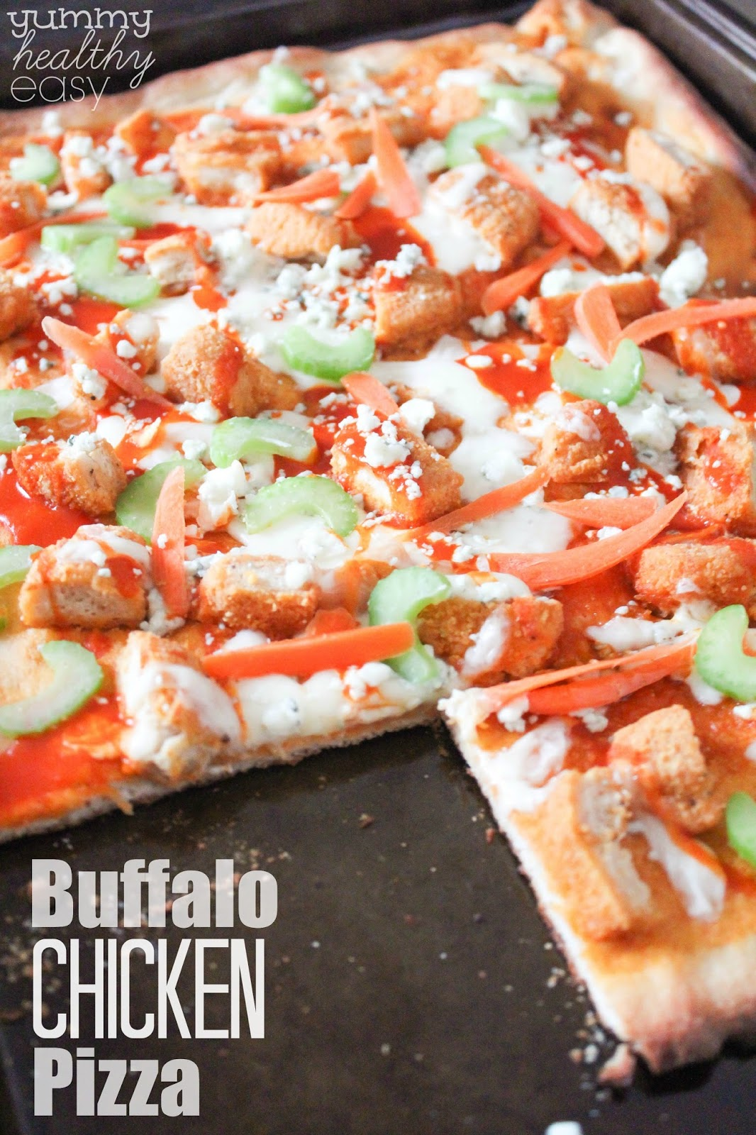Buffalo Chicken Pizza Recipe — Dishmaps