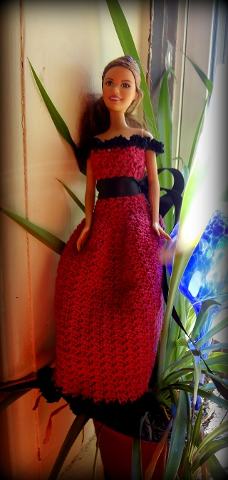 Niftynnifers Crochet Crafts Cherise Barbie Dress Free Crochet