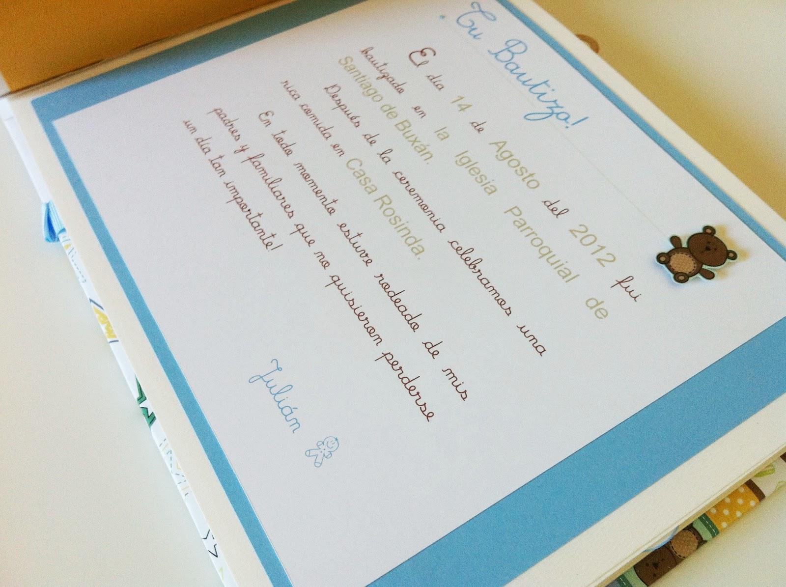 Tiz scrap un nuevo libro de firmas para un bautizo for Interior libro de firmas comunion