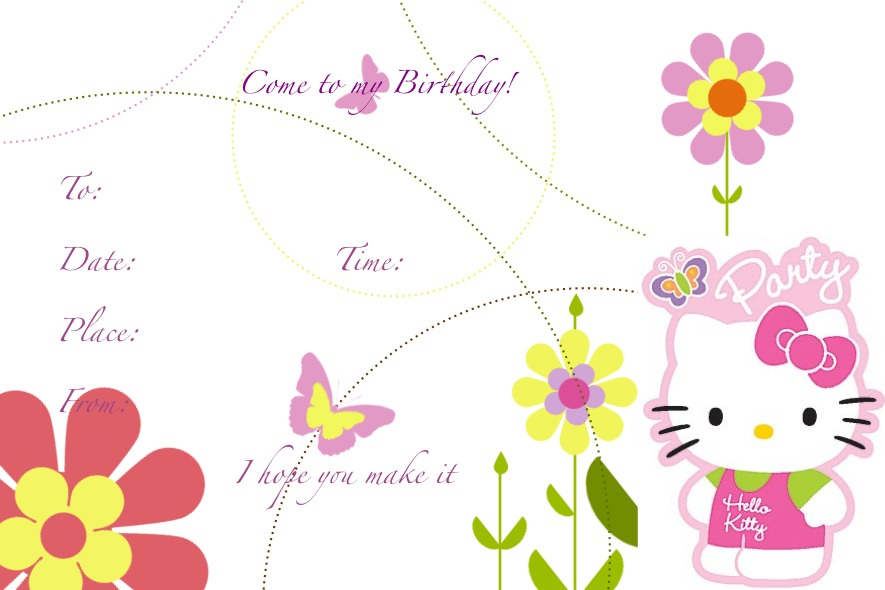 Hello Kitts Birthday Card Mad About Kitty