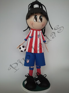 Pipilada - muñeca Athletico de Madrid