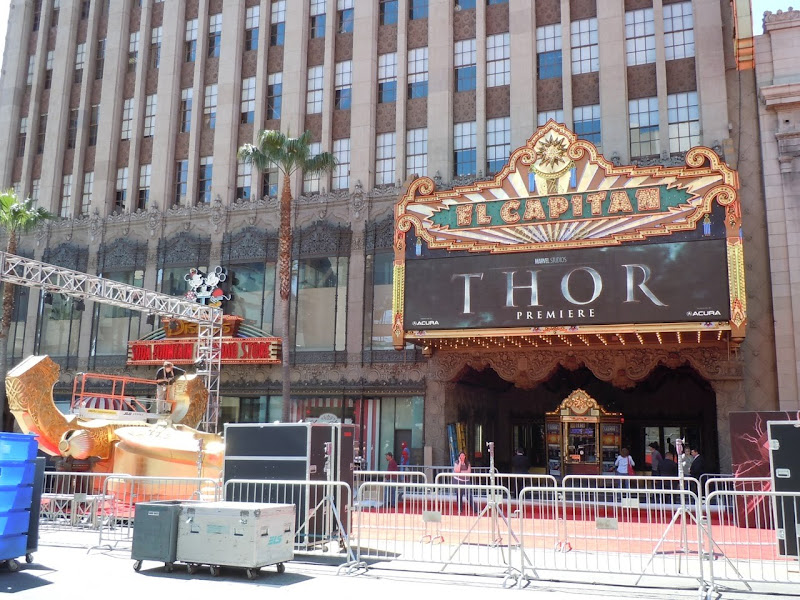 Thor Hollywood premiere set-up