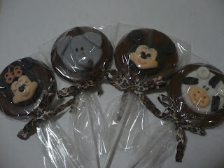 doce pirulito chocolate mickey safari elefante