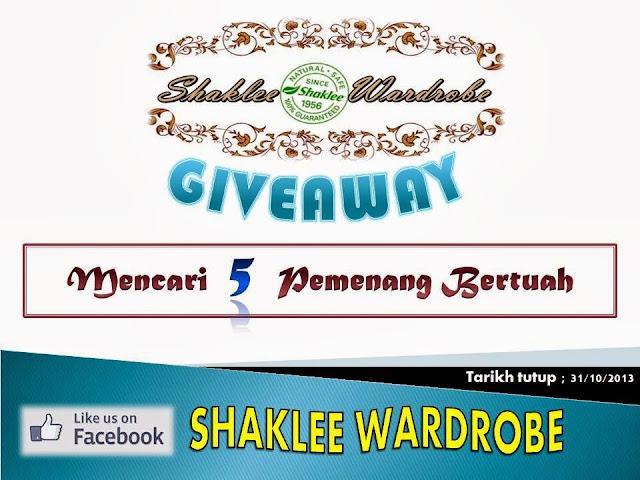 http://nadiasyakila.blogspot.com/2013/10/shaklee-wardrobe-giveaway.html