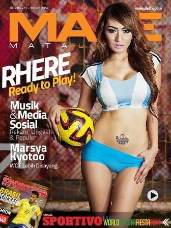 MALE Mata lelaki Edisi 85 Cover Model Rhere Valentina