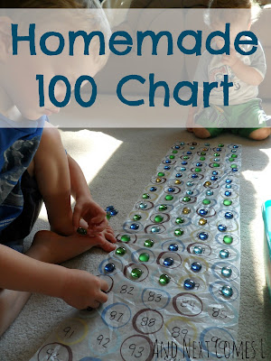 Homemade 100 chart from And Next Comes L
