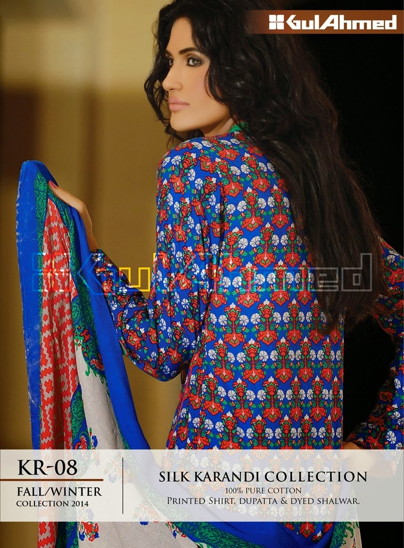 GulAhmed Fall/Winter 2014 Silk Karandi Collection - KR-08