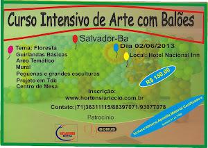 CURSO INTENSIVO DE ARTE COM BALÕES - SALVADOR