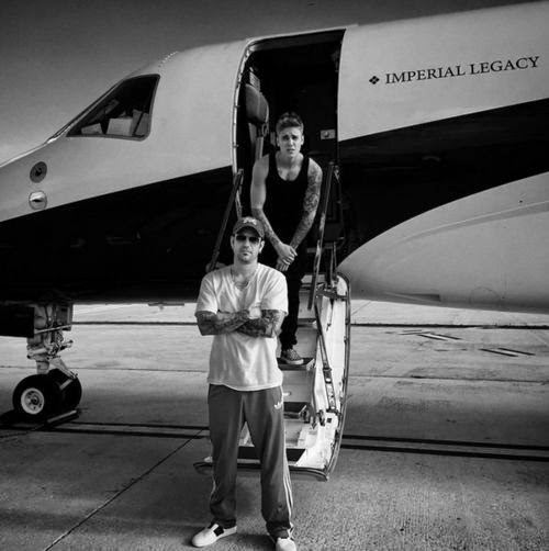 Justin Bieber with dad in adventure travel