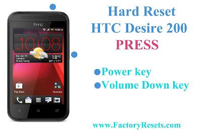 Hard Reset HTC Desire 200