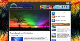 Rainbow Shine Blogger Template