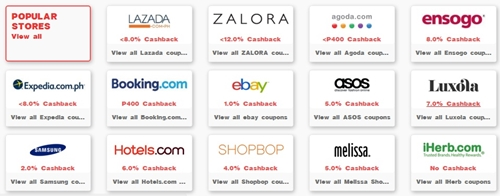 cashback coupon-codes promo deals online-store lazada zalora promo deals ensogo hotels.com asos booking.com