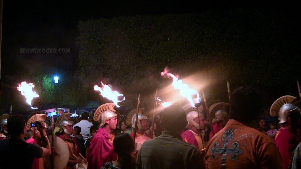 Aprensión de Jesús En el Huerto de los olivos en Iramuco guanajuato 2012