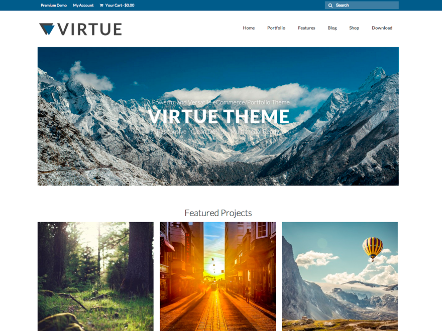 Download Viirtue - Free Wordpress Responsive Portfolio Theme 2015