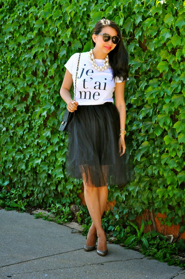 Tulle Skirt, glitter pumps