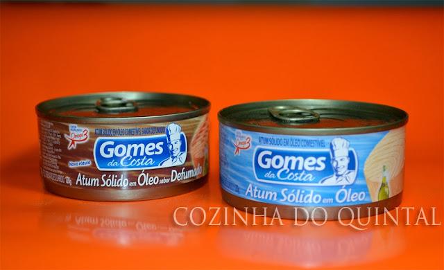 Atum Sólido e Atum Defumado Gomes da Costa na Cozinha do Quintal