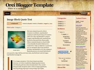 Orei Blogger Template