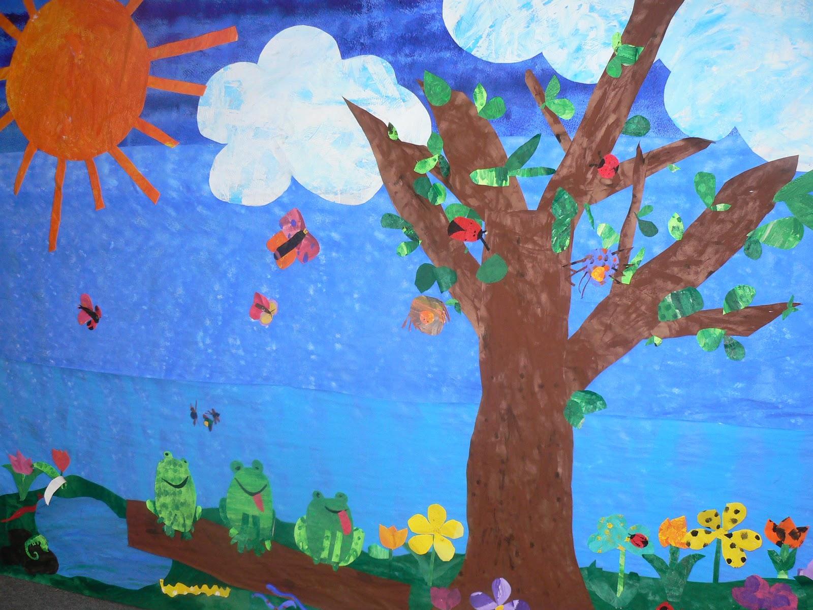Mrs t 39 s first grade class papier mache piggies for Eric carle mural