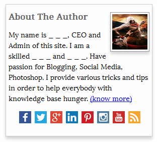 Author Portfolio widget for Blogger/wordpress