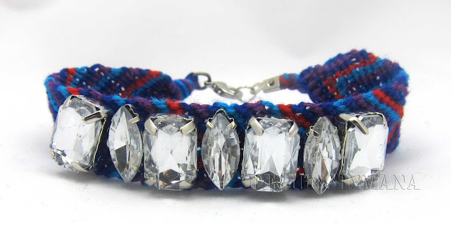 large crystal beaded friendship bracelet