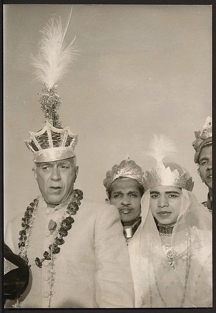 Indian Prime Minister Jawaharal Nehru, donning the Imperial Crown of Charlemagne