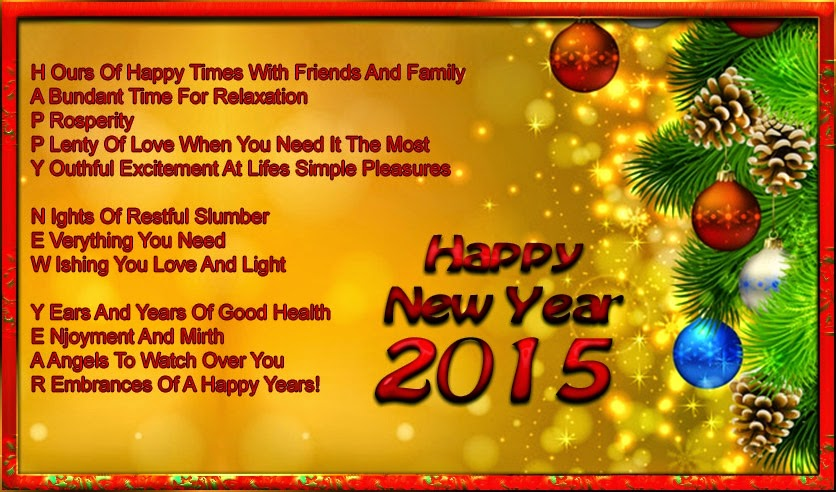 Latest Happy New Year Greetings Cards 2015