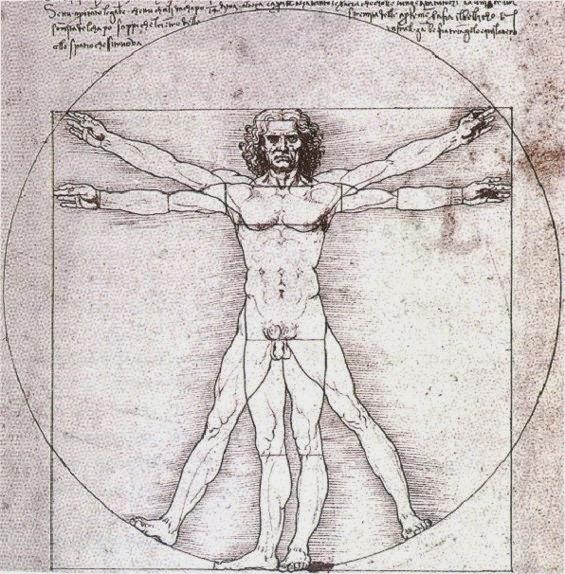 Człowiek witruwiański według Leonarda da Vinci