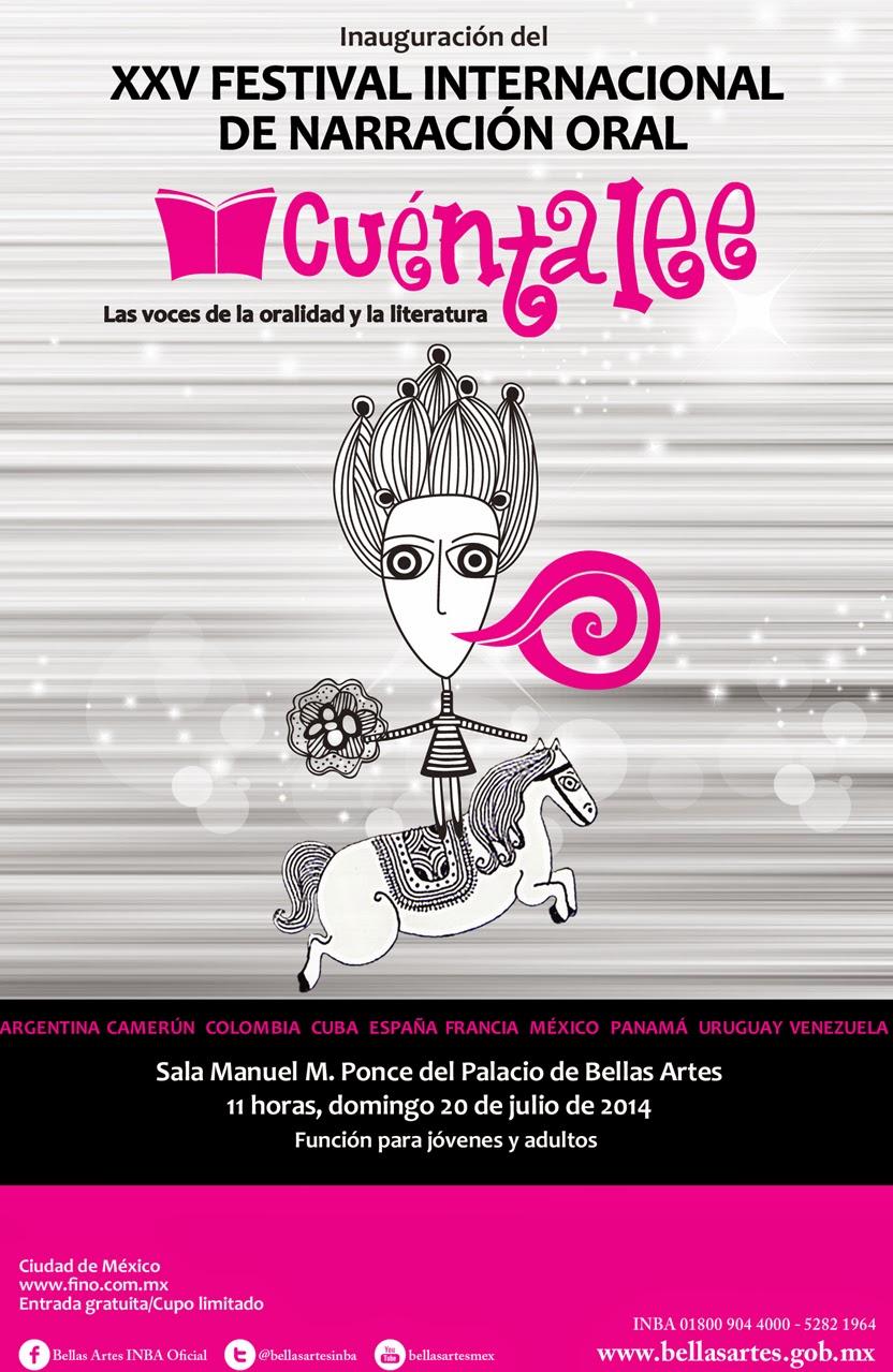XXV Festival Internacional de Narración Oral CUENTALEE 2014