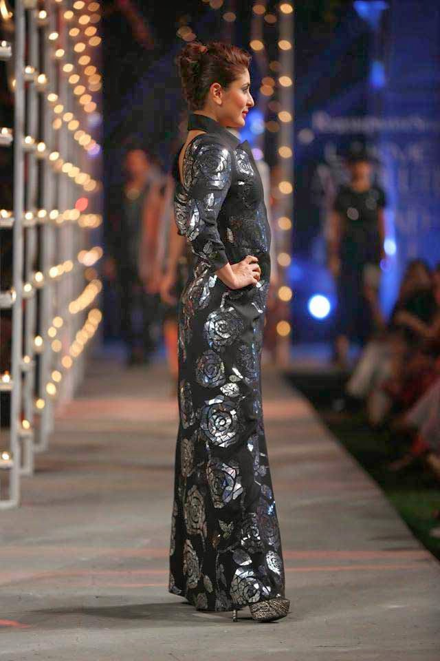 Kareena Kapoor showcases a creation by Rajesh Pratap Singh