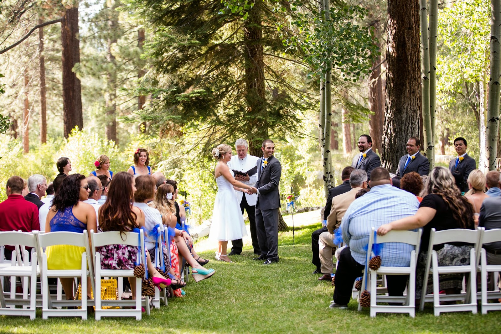 forest wedding ceremony // Huong Forrest Photography // Take the Cake Event Planning