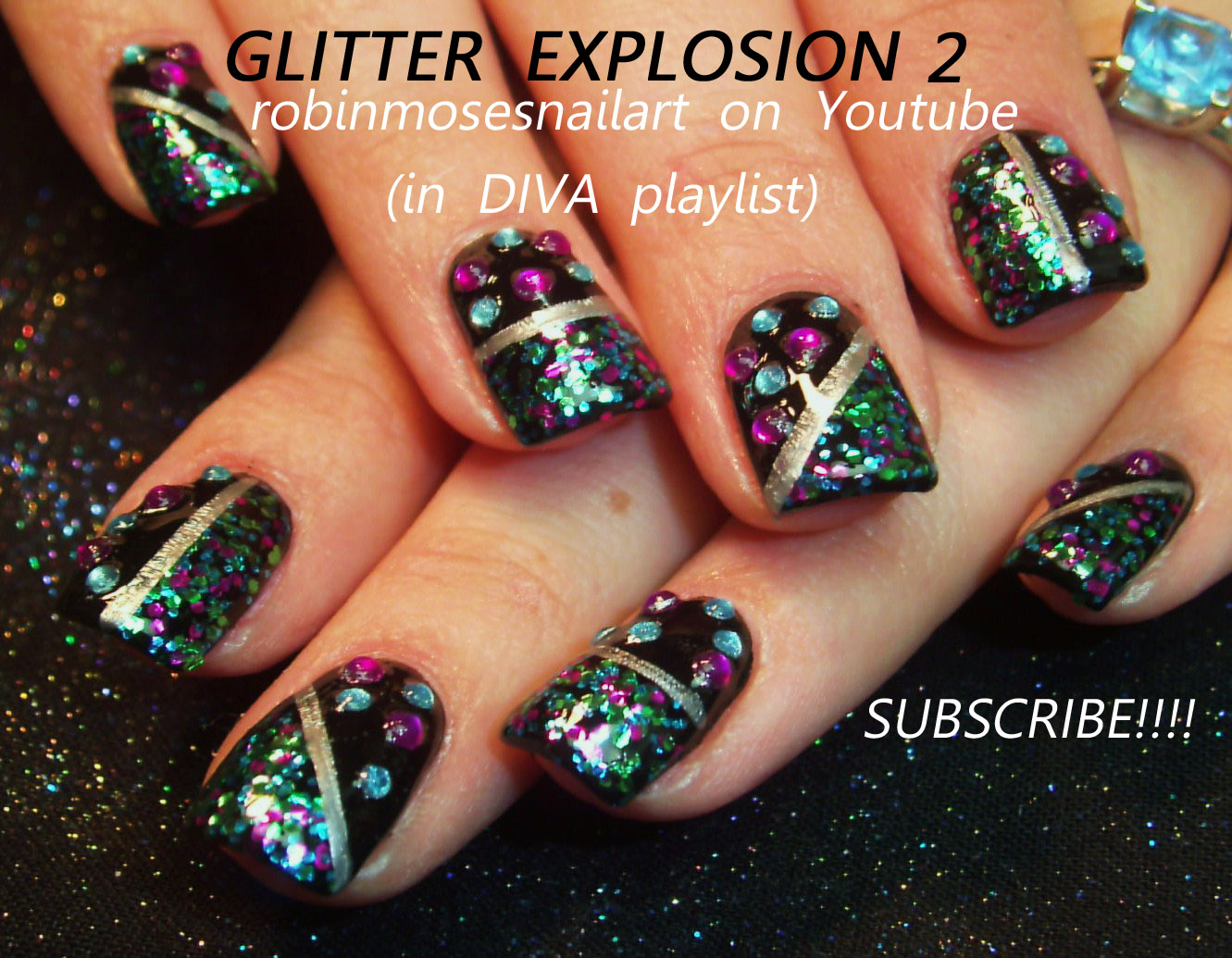 lavender gold nails, disco nails, disco ball, I hate it when Hitler ...