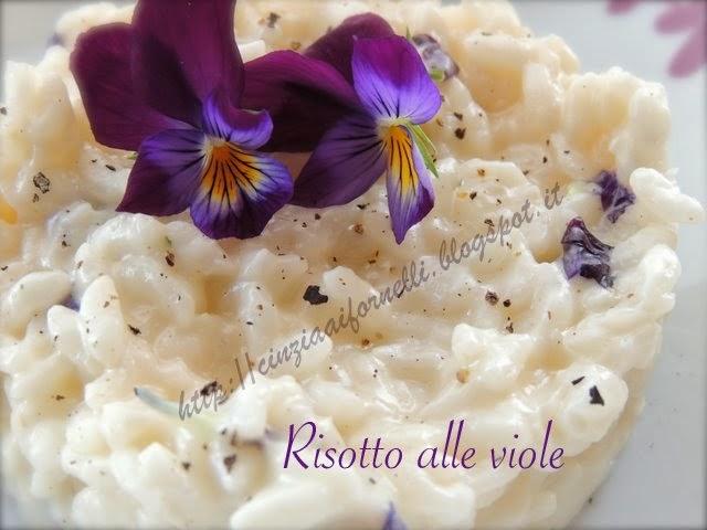 risotto con violette di campo