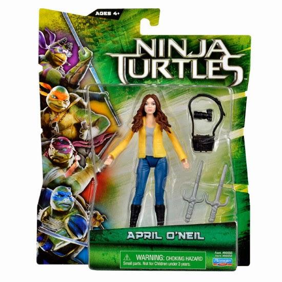 TOYS : JUGUETES - LAS TORTUGAS NINJA La Película  Figura | Muñeco April O'Neil : Ninja Turtles Movie  Producto Oficial 2014 | Playmates Toys | A partir de 4 años