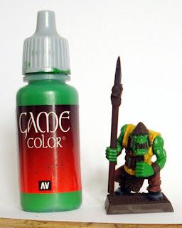 salamanders paintinf guide goblin green
