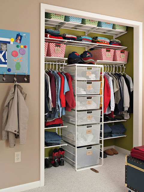 Organiza o com estilo ideias para os arm rios das crian as Storage for small bedroom without closet