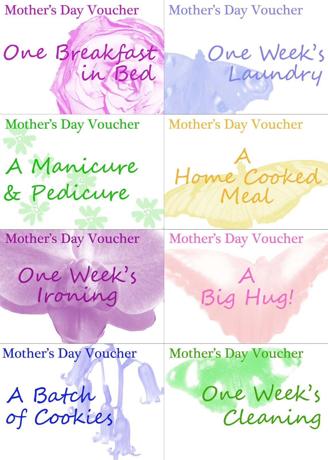 Babysitting voucher template