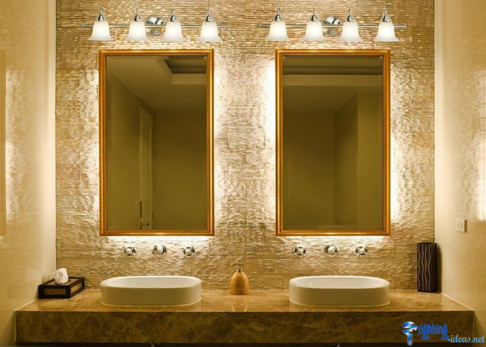 illuminated bathroom mirrors bathroom mirrors with wall lights and