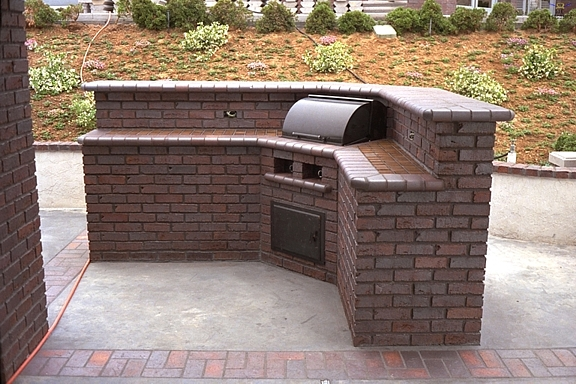 Brick driveway image brick barbecue pictures for Bbq grill design ideas